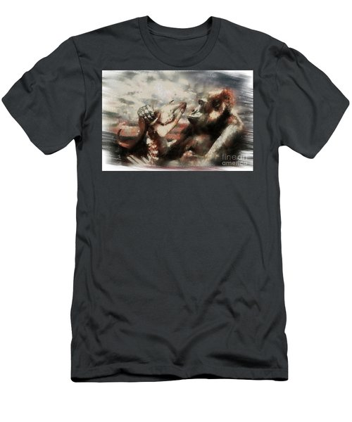 Men's T-Shirt (Slim Fit) featuring the photograph Gorilla  by Christine Sponchia