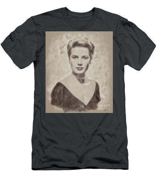 Grace Kelly, Actress And Princess Men's T-Shirt (Slim Fit) by John Springfield