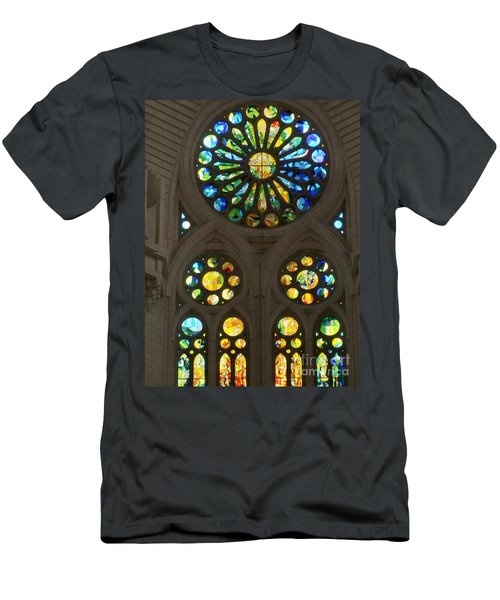 Graphic Art From Photo Library Of Photographic Collection Of Christian Churches Temples Of Place Of  Men's T-Shirt (Slim Fit) by Navin Joshi