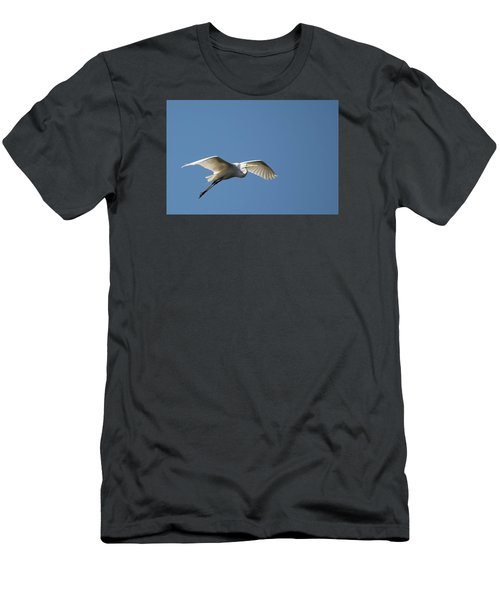 Great Egret Men's T-Shirt (Slim Fit) by Linda Geiger