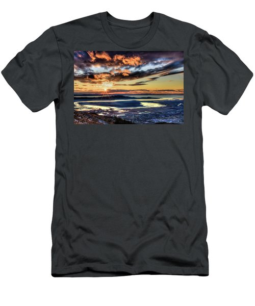 Great Salt Lake Sunset Men's T-Shirt (Athletic Fit)