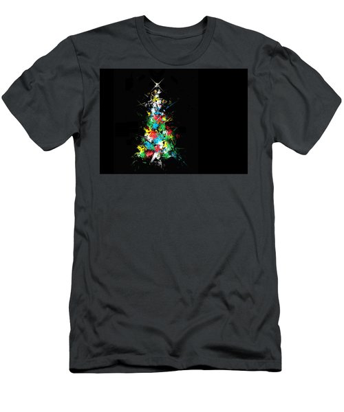 Men's T-Shirt (Slim Fit) featuring the digital art Happy Holidays by Ludwig Keck