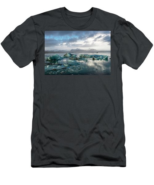Men's T-Shirt (Athletic Fit) featuring the photograph Jokulsarlon, The Glacier Lagoon, Iceland 3 by Dubi Roman