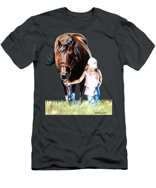 Just A Girl And Her Horse  Men's T-Shirt (Slim Fit) by Shana Rowe Jackson