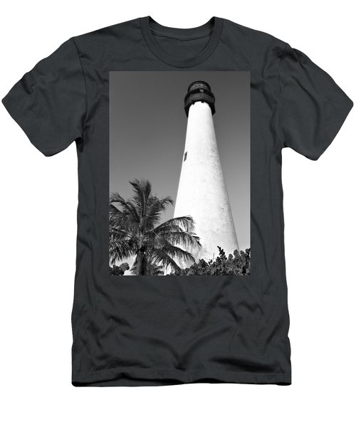Key Biscayne Lighthouse Men's T-Shirt (Athletic Fit)