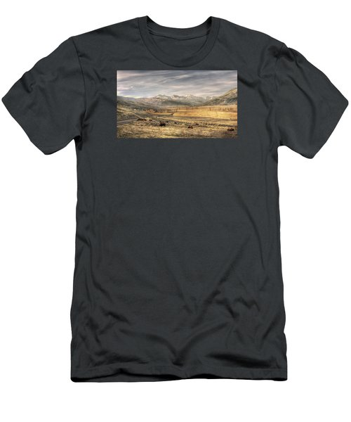 Lamar Valley Men's T-Shirt (Slim Fit) by CR  Courson