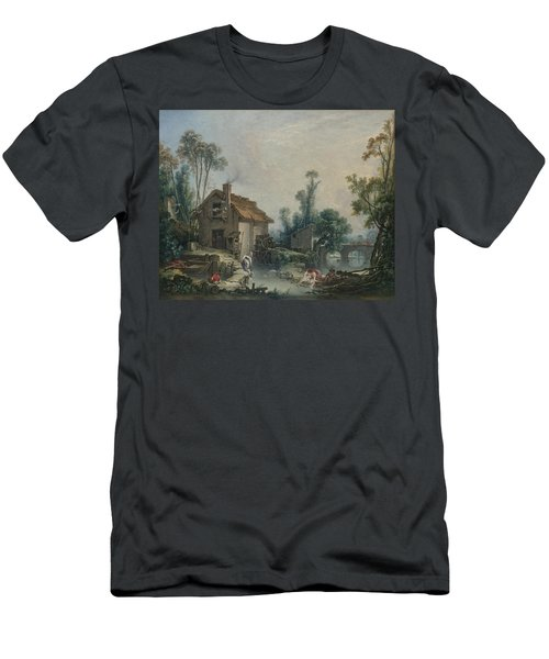 Landscape With A Watermill Men's T-Shirt (Athletic Fit)