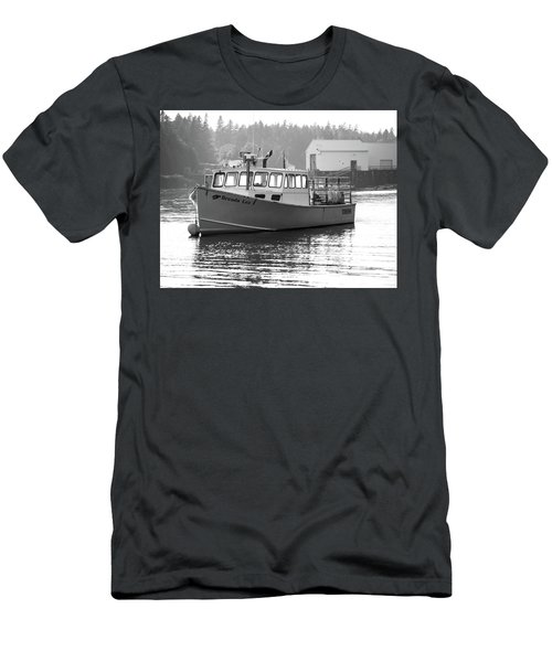 Lobster Boat Men's T-Shirt (Slim Fit) by Trace Kittrell