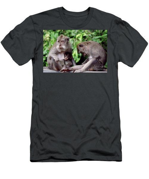 Long Tailed Macaques  Men's T-Shirt (Athletic Fit)