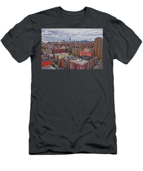 Men's T-Shirt (Athletic Fit) featuring the photograph Manhattan Landscape by Joan Reese