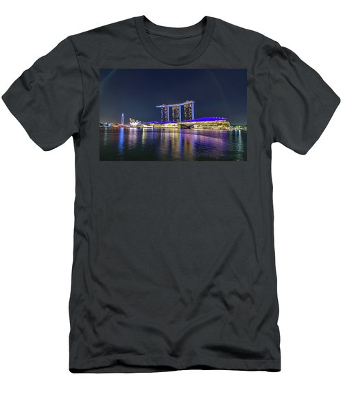 Marina Bay Sands And The Artscience Museum In Singapore Men's T-Shirt (Athletic Fit)