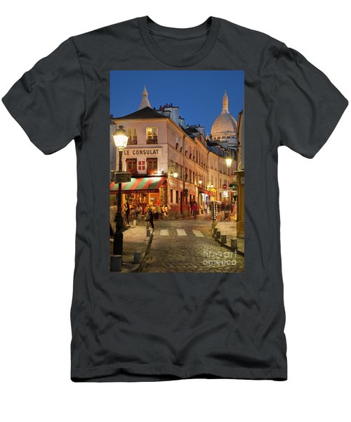 Men's T-Shirt (Athletic Fit) featuring the photograph Montmartre Twilight by Brian Jannsen