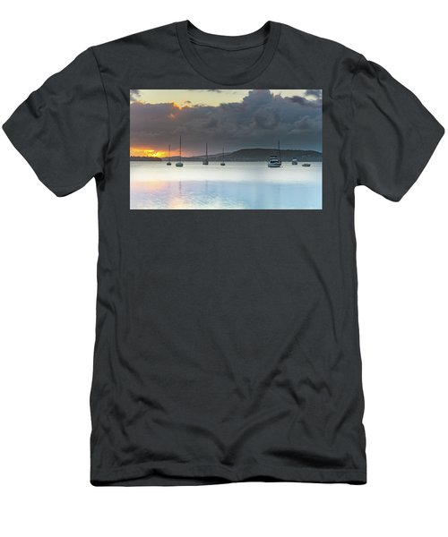 Overcast Sunrise Waterscape Men's T-Shirt (Athletic Fit)