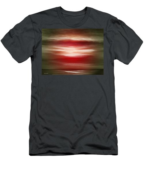 Red Abstract Sunset Men's T-Shirt (Athletic Fit)
