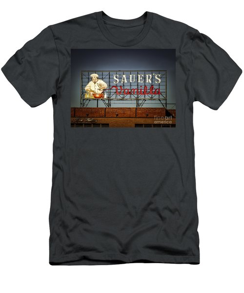 Men's T-Shirt (Slim Fit) featuring the photograph C.f.sauers Signage by Melissa Messick