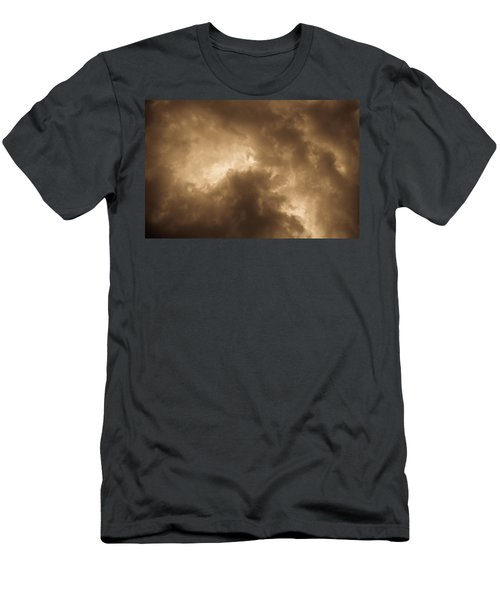 Sepia Clouds Men's T-Shirt (Athletic Fit)