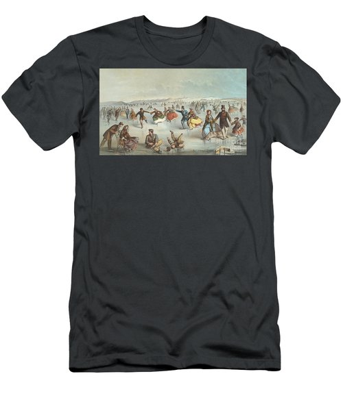 Skating In Central Park, New York Men's T-Shirt (Athletic Fit)