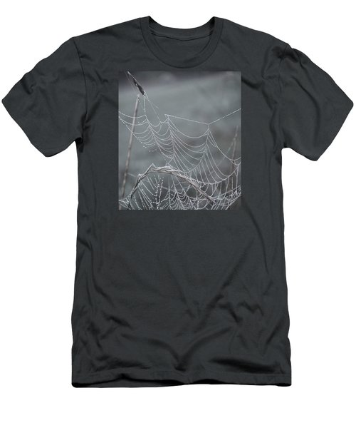 Spiderweb Droplets Men's T-Shirt (Slim Fit) by Nikki McInnes