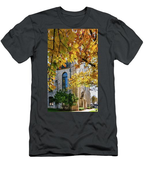 Stone Chapel Fall Men's T-Shirt (Athletic Fit)
