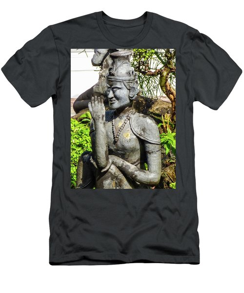 Stone Statue Depicting A Thai Yoga Pose At Wat Pho Temple Men's T-Shirt (Athletic Fit)