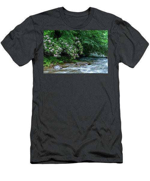 Summer Along Birch River Men's T-Shirt (Athletic Fit)