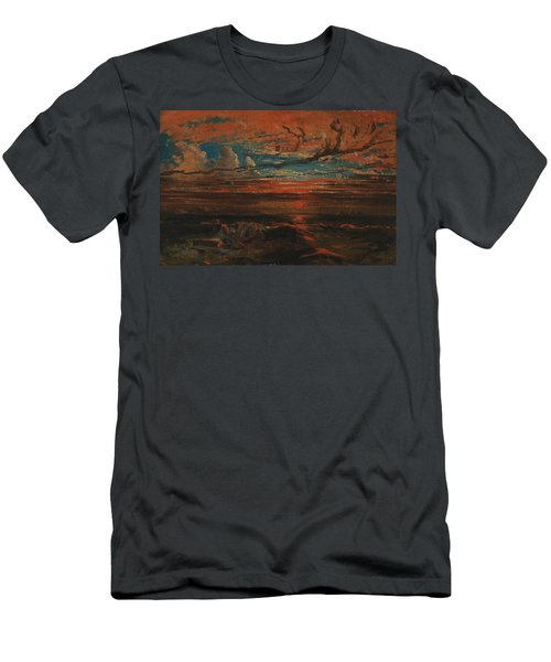 Sunset At Sea After A Storm Men's T-Shirt (Athletic Fit)