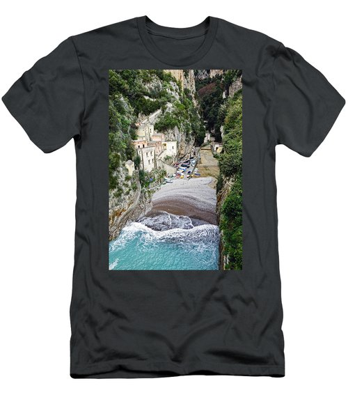 This Is A View Of Furore A Small Village Located On The Amalfi Coast In Italy  Men's T-Shirt (Athletic Fit)
