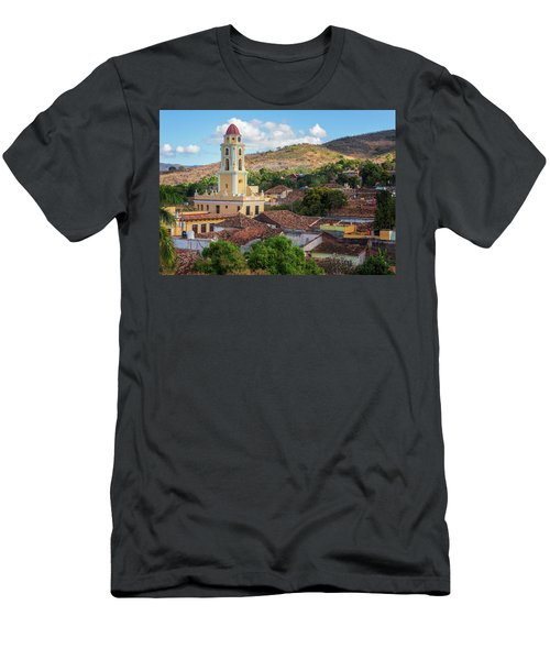 Men's T-Shirt (Slim Fit) featuring the photograph Trinidad Cuba Cityscape II by Joan Carroll