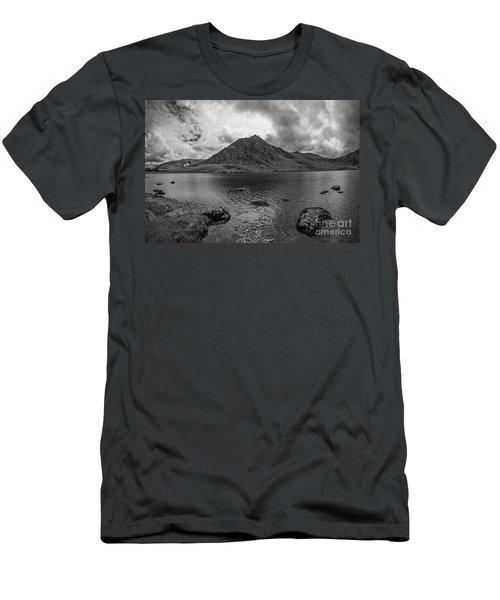 Tryfan Mountain Men's T-Shirt (Slim Fit) by Ian Mitchell