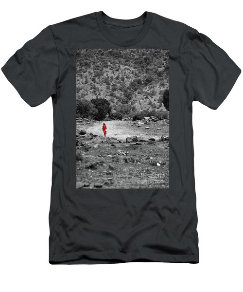 Men's T-Shirt (Slim Fit) featuring the photograph Walk  by Charuhas Images