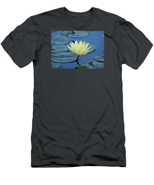 Men's T-Shirt (Slim Fit) featuring the photograph Water Lily by Lisa L Silva