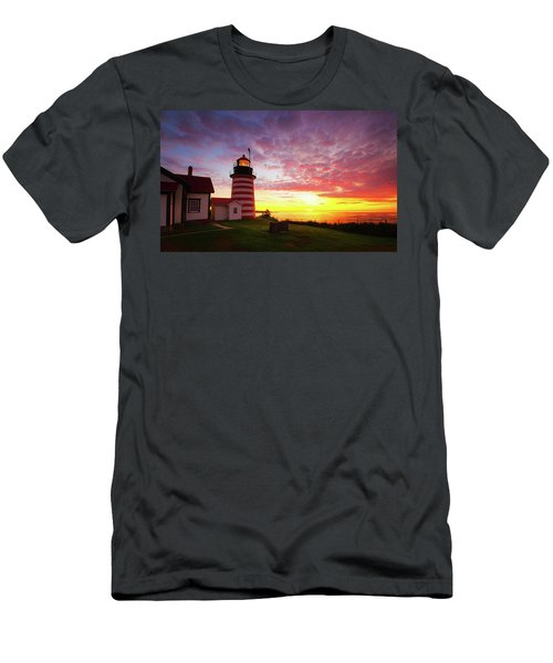 West Quoddy Head Light Men's T-Shirt (Athletic Fit)