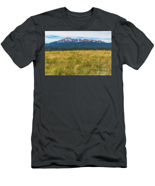 Wildflowers And Pikes Peak Men's T-Shirt (Athletic Fit)