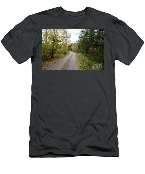 Men's T-Shirt (Athletic Fit) featuring the photograph Winding Gravel Road by Kennerth and Birgitta Kullman