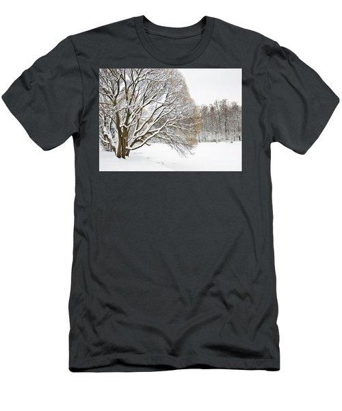 Winter Park Men's T-Shirt (Slim Fit) by Irina Afonskaya