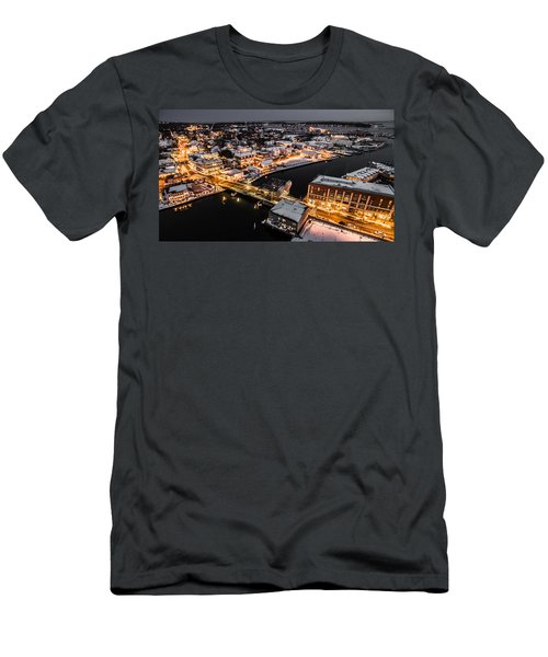 Men's T-Shirt (Slim Fit) featuring the photograph Winter Twilight In Mystic Connecticut by Petr Hejl