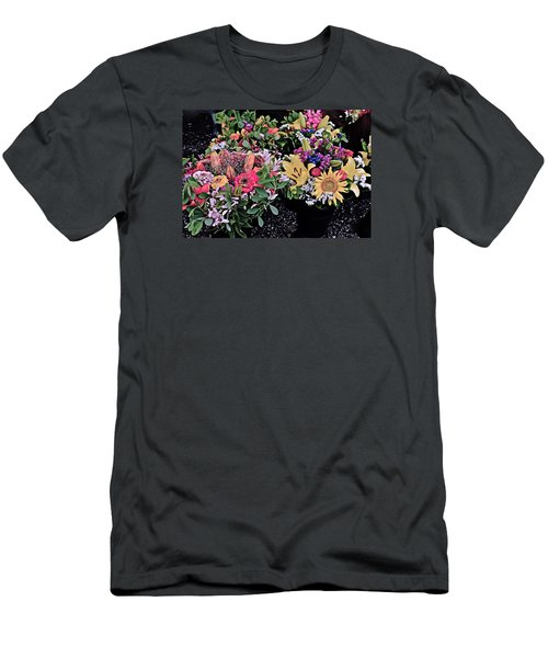 2015 Monona Farmers Market Flowers 1 Men's T-Shirt (Athletic Fit)