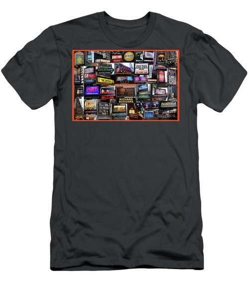 Men's T-Shirt (Slim Fit) featuring the photograph 2016 Broadway Fall Collage by Steven Spak