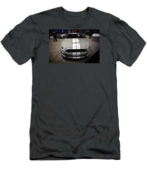 2016 Preproduction Ford Mustang Shelby Gt350 Men's T-Shirt (Slim Fit) by Mike Martin