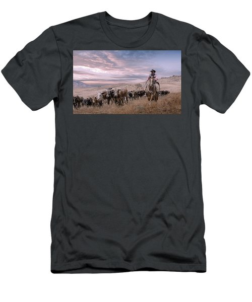 2016 Reno Cattle Drive Men's T-Shirt (Slim Fit) by Rick Mosher