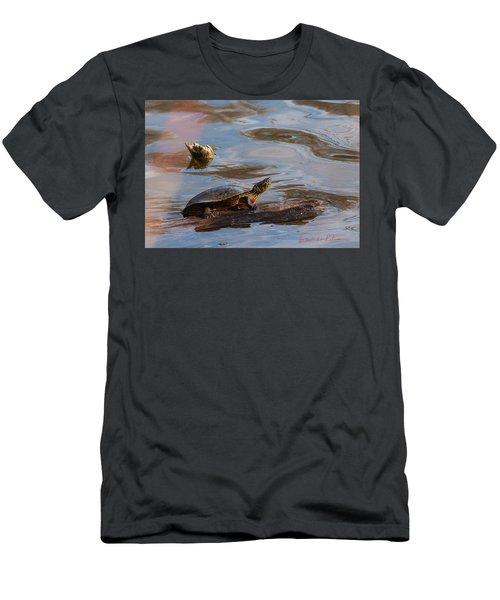 2017 Painted Turtle Men's T-Shirt (Slim Fit) by Edward Peterson