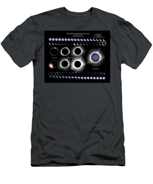 2017 Solar Eclipse Collage Men's T-Shirt (Athletic Fit)