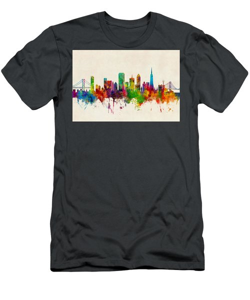 San Francisco City Skyline Men's T-Shirt (Athletic Fit)