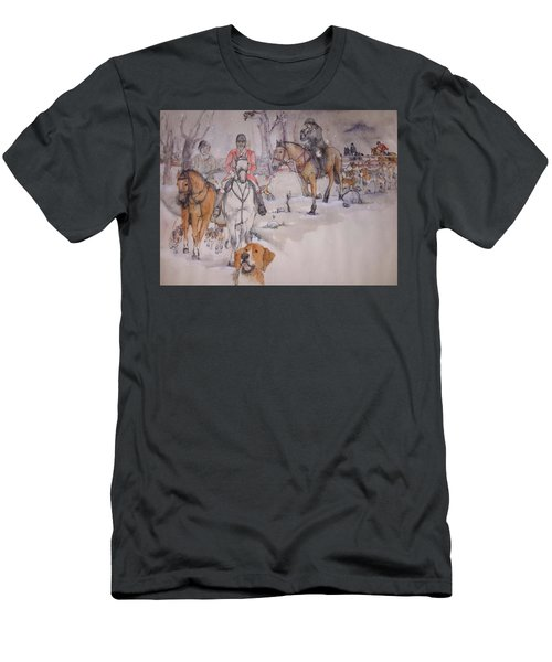 Men's T-Shirt (Slim Fit) featuring the painting Talley Ho Album  by Debbi Saccomanno Chan