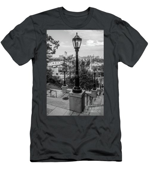 215th Street Stairs  Men's T-Shirt (Athletic Fit)