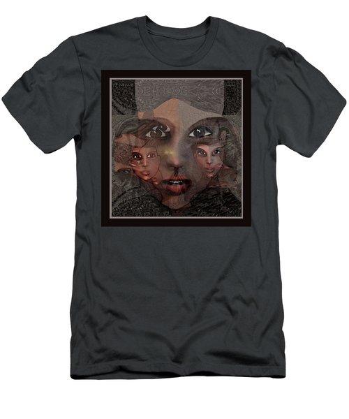 2327- Portrait Fractal 2017 Men's T-Shirt (Athletic Fit)