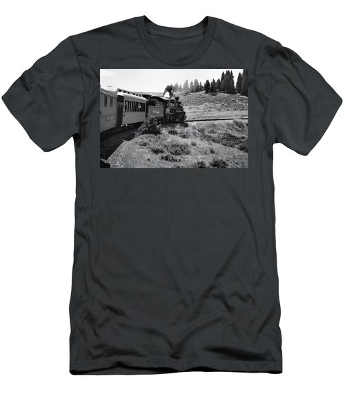 Men's T-Shirt (Athletic Fit) featuring the photograph 25 Miles Per Hour by Ron Cline