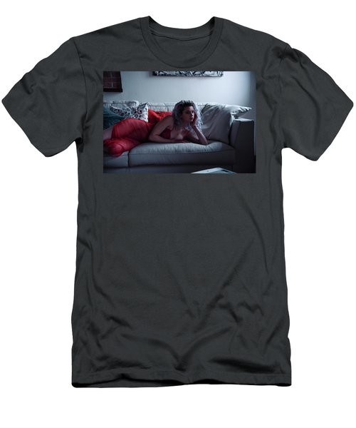 Men's T-Shirt (Slim Fit) featuring the photograph Tu M'as Promis by Traven Milovich
