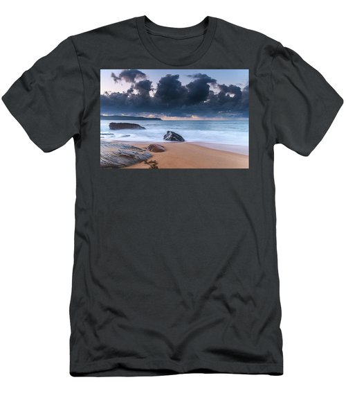 Sunrise Seascape With Clouds Men's T-Shirt (Athletic Fit)