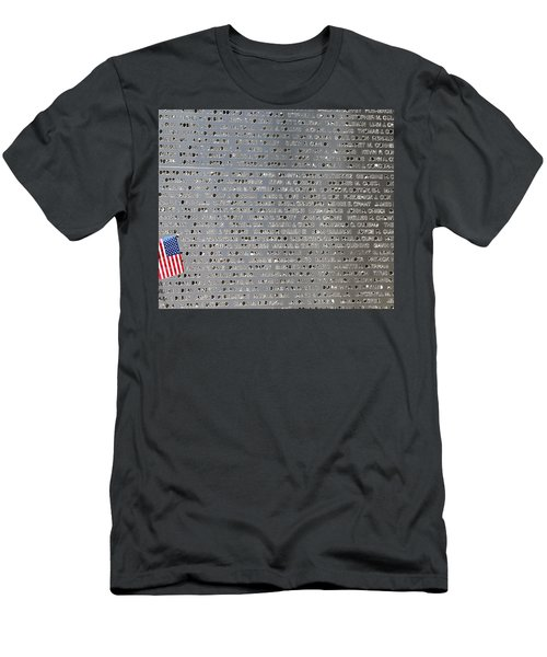 9-11 Memorial Rocky Point New York Men's T-Shirt (Slim Fit) by Bob Savage
